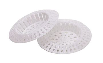 KitchenCraft Plastic Bath / Kitchen Sink Strainer Set, 7 cm (Pack of 2) - White