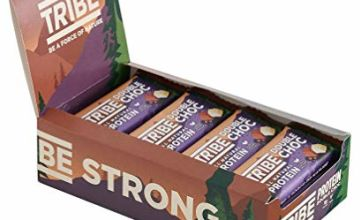 Save on TRIBE Nutrition Natural Vegan Protein Bar, Gluten and Dairy Free Plant Protein, Double Chocolate Flavour - 50g (Pack of 16) and more