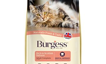 Burgess Adult Cat Food Rich in Scottish Salmon 10kg