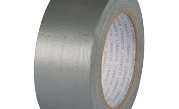 Q-Connect KF00290 Duct Tape Roll, 48 mm x 25 m, Silver
