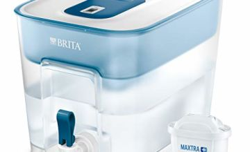 BRITA Flow Water XL Filter Tank, Compatible with BRITA MAXTRA+ Cartridges, Water Filter that Helps with the Reduction of Limescale and Chlorine, in White