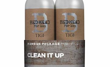 Bed Head for Men by Tigi Clean Up Mens Daily Shampoo and Conditioner, 2 x 750 ml