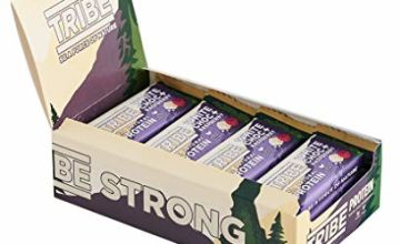 Save on TRIBE Nutrition Natural Vegan Protein Bar, Gluten and Dairy Free Plant Protein, White Chocolate and Raspberry Flavour - 46g (Pack of 16) and more