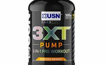 15% off USN 3XT Pump Orange 840 g: Pre Workout Supplement Energy Drink With Caffeine and more