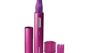 Philips Facial Precision Trimmer, Face, Eyebrows and Bikini Line Grooming, Painless Hair Removal, Portable, HP6390/10