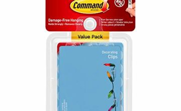 25% off Command 17026CLR-VP Decoration Clips for Christmas and Fairy Light - Clear, Value Pack