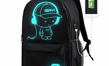 School Backpack, ICETEK Galaxy Anime Bag Laptop Backpack for