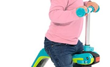Smoby 2-in-1 Reversible Micro Scooter for Kids to Ride On, Blue