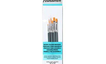 Winsor & Newton Foundation Water Colour Short Handle 6 Pack Brush, Multicoloured, 7 x 1 x 4.3 cm