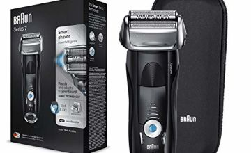 Braun Series 7 Electric Shaver for Men 7842s, Wet and Dry, Integrated Precision Trimmer, Rechargeable and Cordless Razor with Travel Case, Black