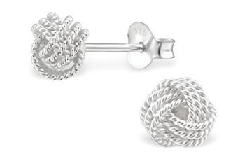 The Rose & Silver Company Women 925 Sterling Silver Knot Stu
