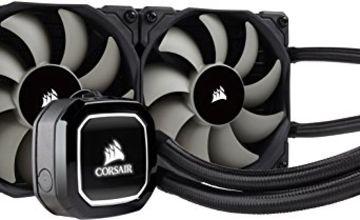 Corsair Hydro H100 x 240 mm Radiator Dual 120 mm PWM Fans Liquid CPU Cooler - Black