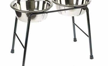 Classic Pet Products Double Feeder High Stand with 2 x 1600 ml Stainless Steel Dishes, 300 mm Tall