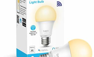 TP-Link Tapo Smart Bulb, Wi-Fi Smart Switch, E27, 8.7 W, Works with Amazon Alexa (Echo and Echo Dot), Google Home, Dimmable Soft Warm White, No Hub Required, Device Sharing (Tapo L510E)