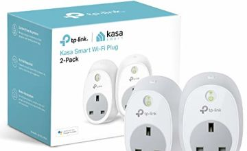 Kasa Smart Plug by TP-Link, WiFi Outlet, Works with Amazon Alexa (Echo and Echo Dot), Google Home and Samsung SmartThings, Wireless Smart Socket Remote Control Timer Switch, No Hub Required(HS100P2)