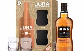 Save on Jura Whisky 10 Year Old Single Malt 2 Glasses Gift Pack, 70 cl