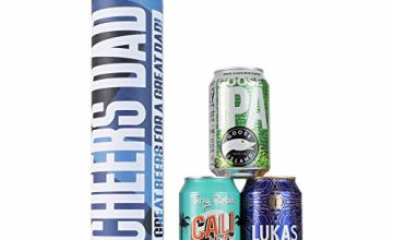 Beer Hawk Cheers Dad Beer Canister - 3 Craft Beers - Perfect Father's Day Beer Gift
