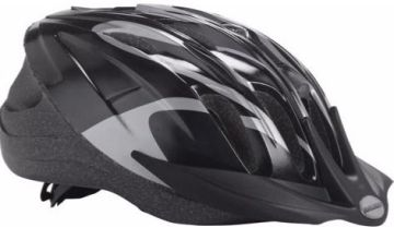 Raleigh Unisex's Infusion Cycle Helmet, Black/Silver, 58-62 cm