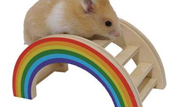 Rosewood Boredom Breaker Small Animal Activity Toy Rainbow Play Bridge, Small