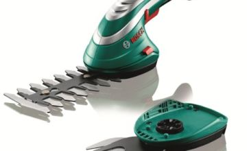 Over 20% off Bosch Cordless Edging Shear Set Isio (3.6 V, Blade Length 12 cm, Tooth Spacing 8 mm, In Cardboard Box)