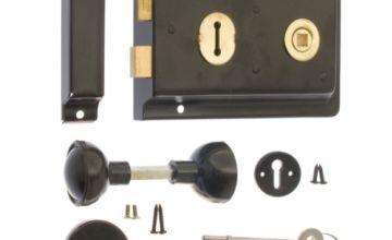 ERA Rim 6 x 4-inch Sashlock with Handles - Black
