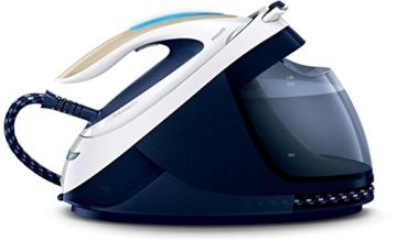 Philips GC9630/20 PerfectCare Elite Steam Generator Iron for Medium Family Basket Loads, with OptimalTEMP: No Fabric Burns Guaranteed, 6.7 Bar, 470 g Steam Boost – Navy