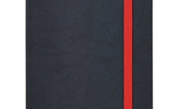 Oxford Black n' Red, Journal, A4 Notebook Hardcover, Casebound, Lined & Numbered, 144 Page, 1 Notebook