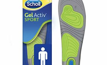 Scholl Insoles Men's Sport, Gel Active, UK Shoe Size 7-12