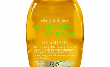 OGX Apple Cider Vinegar Clarifying Shampoo for Oily Hair and for Greasy Hair 385 ml Sulfate Free Surfactants