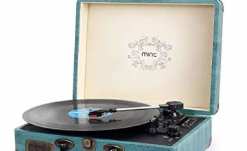 Record Player, Miric Bluetooth Record Player with 2 Built-in
