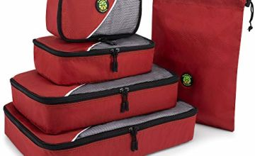 Red Storage Bags for Clothes 5 Piece Value Set - Suitable fo