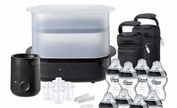 Save up to 60% on a range of Tommee Tippee Steriliser, Warmer and Bottle Sets