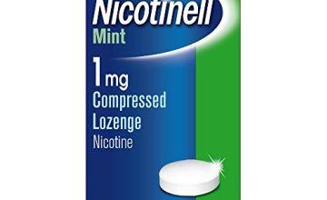 Nicotinell Nicotine Lozenge, Quit Smoking Aid, Sugar Free Mint Flavour, 1 mg, 96 Pieces