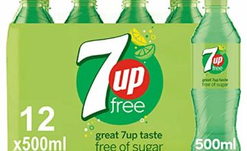 7UP Free - Lemon & Lime Flavoured Fizzy Drink - Sugar-Free - 12 x 500 ml