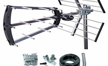 TriStar Digital TV Aerial Compact Tri-Fold Easy Assembly Aerial Kit 4G Filter Outdoor Or Loft 27900KTR