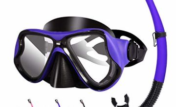 Kuyou Snorkel Set Adults, Anti-Fog Dry Snorkel Set,Tempered