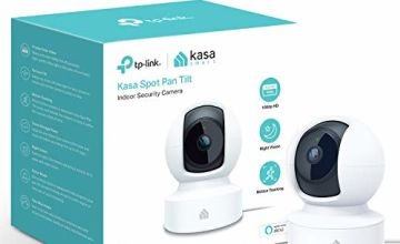 tp-link Kasa Smart Security Camera by Baby Monitor, 360° rotational views, No Hub Required, Works with Alexa (Echo Spot/Show and Fire TV), Google Home/Chromecast, 1080p, 2-Way Audio with Night Vision