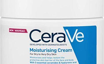 CeraVe Moisturising Cream | 454g/16oz | Daily Face, Body & Hand Moisturiser for Instant & Long-Lasting Hydration