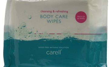 Carell Body Care Wipes - Easy to use, Containing Aloe Vera, Dermatologically Tested, Alcohol-Free - Pack of 60 Wipes