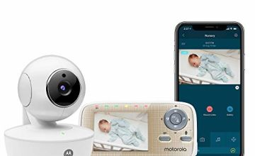 """Motorola MBP669CONNECT Video Baby Monitor with 2.8"""" Handheld Parent Unit and Wi-Fi Hubble Connected App for Smartphones & Tablets"""