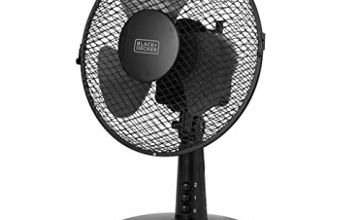 Save on BLACK+DECKER BXFD52003GB 9 inch Desk Fan, 2 Speed, 80 Degree Oscillation, Copper Motor Technology, Black and more