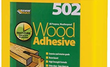 Save on Everbuild 502 All Purpose Weatherproof Wood Adhesive, 5  Litre and more
