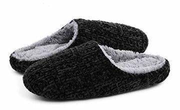 ULTRAIDEAS Women's Plush Chenille Slippers with Memory Foam,