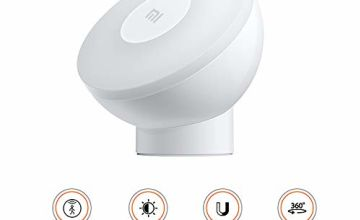 Xiaomi Motion Activated Night Light 2 Night Light for Kids, Cabinet, Hallway, Kitchen, Stairs, Adjustable Brightness Intelligent Human Body Sensor with Magnetic Base