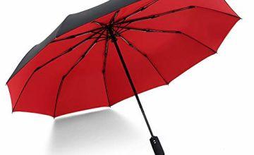 SKJIND Automatic Umbrella Open Close Compact,Windproof Trave