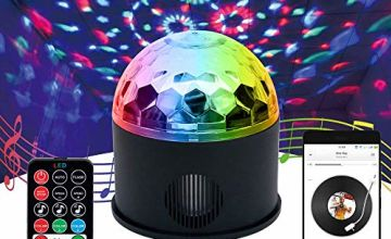 Disco Ball Lights,AVEKI LED 9 Colors Party Lights Bluetooth