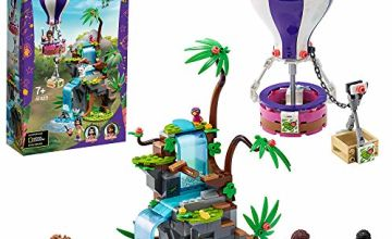 LEGO 41423 Friends Tiger Hot Air Balloon Jungle Rescue Play Set with Andrea, Emma & Animals Figures