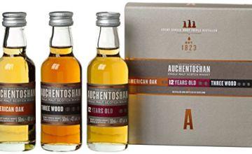 Auchentoshan Single Malt Whisky Miniature Gift Set (contains 3 x Auchentoshan 5cl miniatures)