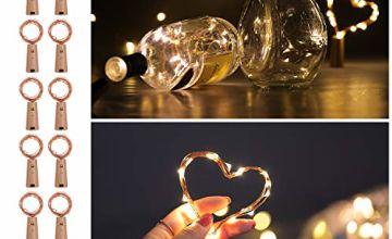 Wine Bottle Lights with Cork, 12 Pack AIBOO 20 LEDs Fairy De