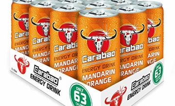 Carabao Energy Drink Mandarin Orange 330ml (Pack of 12)